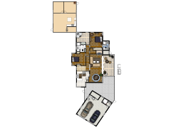 My House (as of 7/10/09) - Living Furniture made with Floorplanner