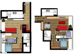 新建楼层计划 - 1-2F made with Floorplanner