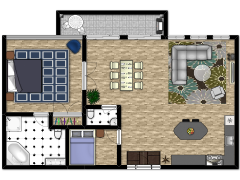 House - Condo made with Floorplanner