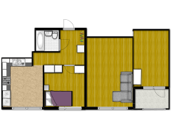 New floorplan - Sovrum med balkong made with Floorplanner