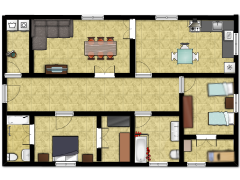 la meva habitació - escriba un nombre made with Floorplanner