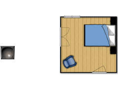 huiskamer Beau - slaapkamer made with Floorplanner