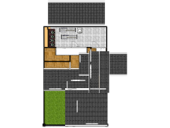 my house - house made with Floorplanner
