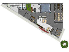 Office Level 1-2 Main - First Level Main made with Floorplanner