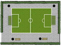 New floorplan - Soccer terain1 made with Floorplanner