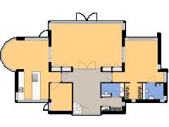 Joop Schweitzerstrjitte 33 te Elahuizen - Begane grond made with Floorplanner